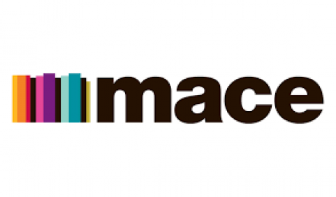 Mace white logo
